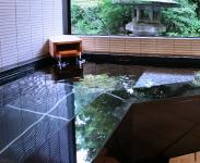 客室風呂に源泉を使用