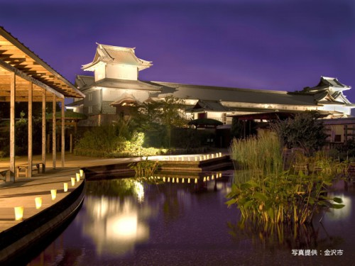 金沢城夜景49_石川県観光連盟800