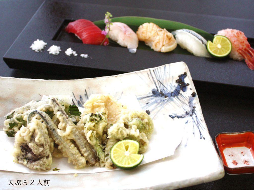 天婦羅寿司金沢春懐石1200
